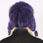 Шапка Ушанка цвет Фиолетовый