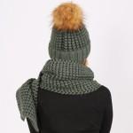 Комплект шапка + шарф модель 2005