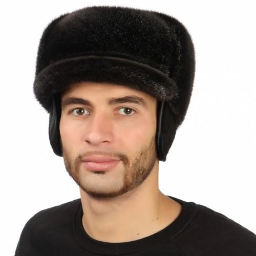 Мужская шапка из нерпы арт. 303м