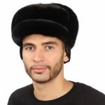 Черная мужская норковая шапка арт. 310м