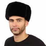 Черная мужская норковая шапка арт. 311м