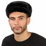 Черная норковая шапка для мужчин