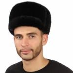Черная мужская норковая шапка арт. 313м