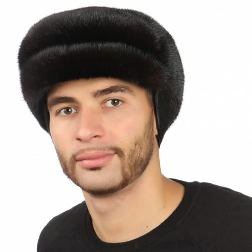 Черная мужская норковая шапка арт. 315м