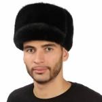 Черная мужская норковая шапка арт. 317м