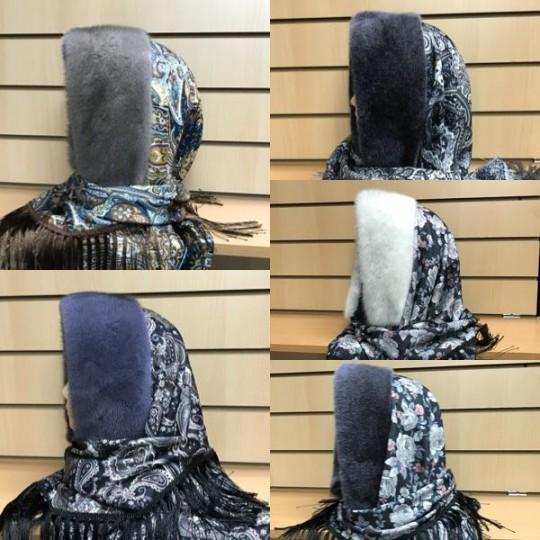 Платок с мехом