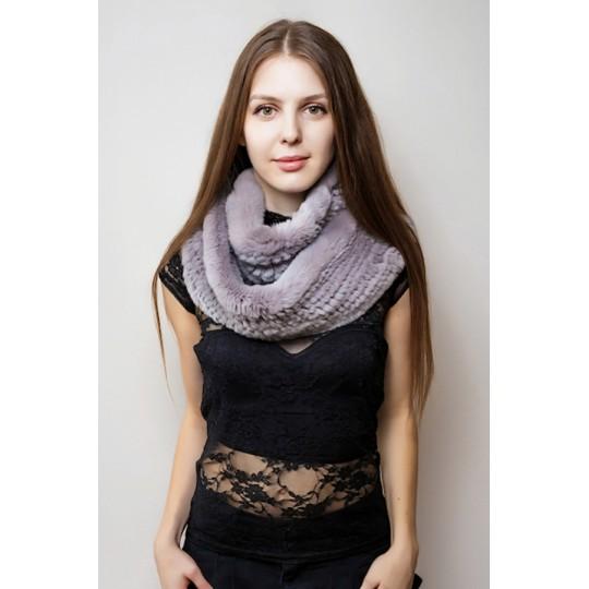 Снуд-шарф кролик REX серый