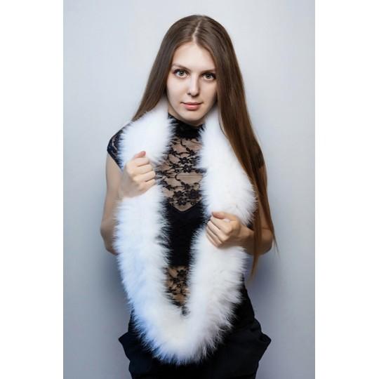 Снуд-шарф песец белый