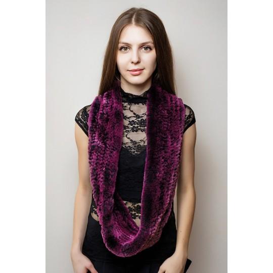 Снуд-шарф кролик REX фиолетовый сну-топ