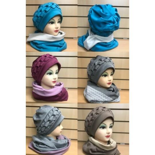 Весенний комплект шапка + шарф