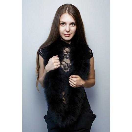 Снуд-шарф песец черный