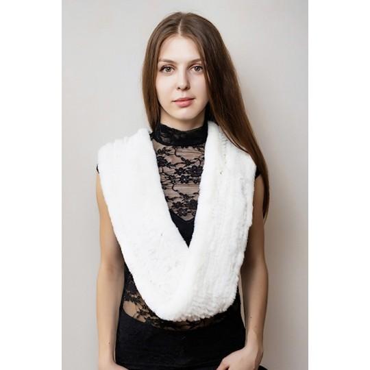 Снуд-шарф кролик REX белый