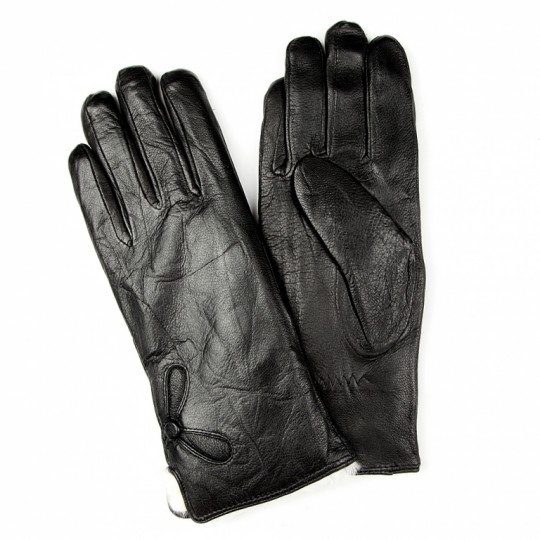 Перчатки кожаные Черные (сенсорные)