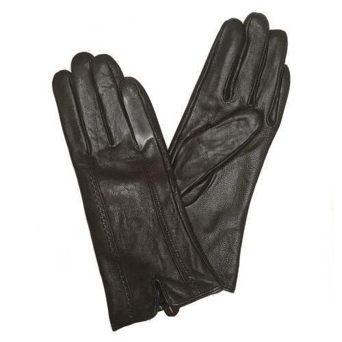 Перчатки кожаные Коричневые